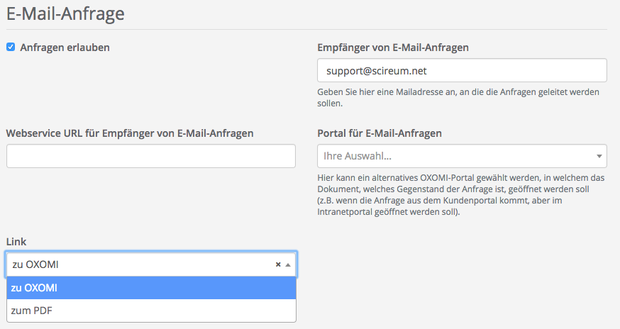 E Mail Anfrage